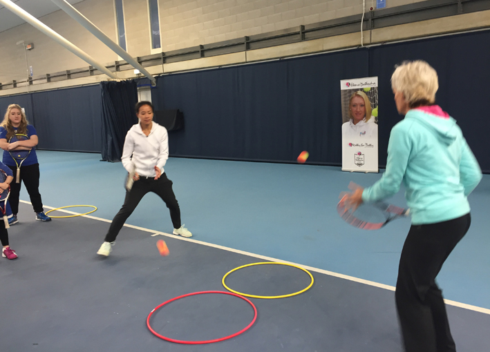 tennis mentoring with Anne Keothavong and Judy Murray