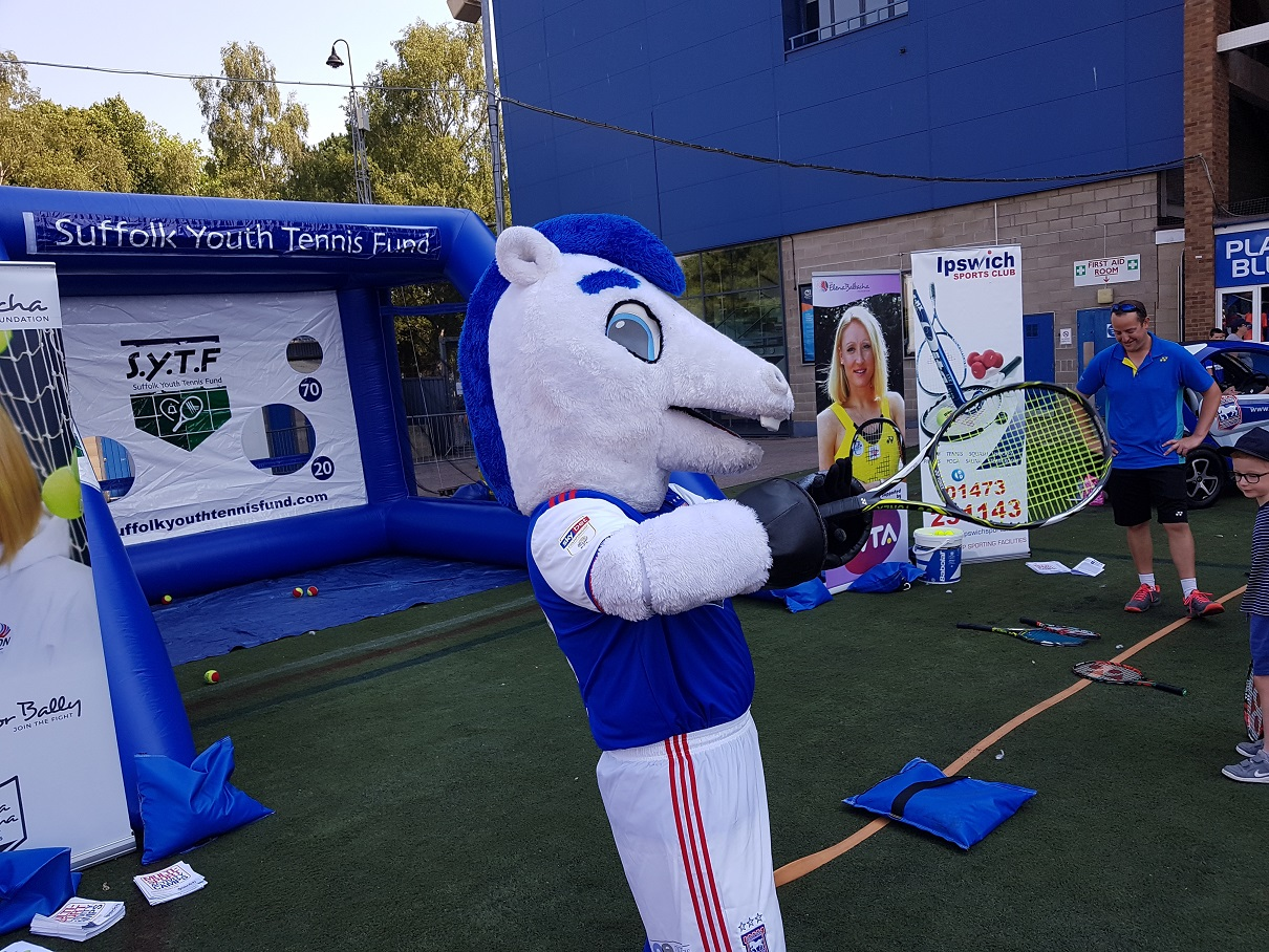 The Elena Baltacha Foundation tennis activity during Ipswich Town Football Club's Open Day.