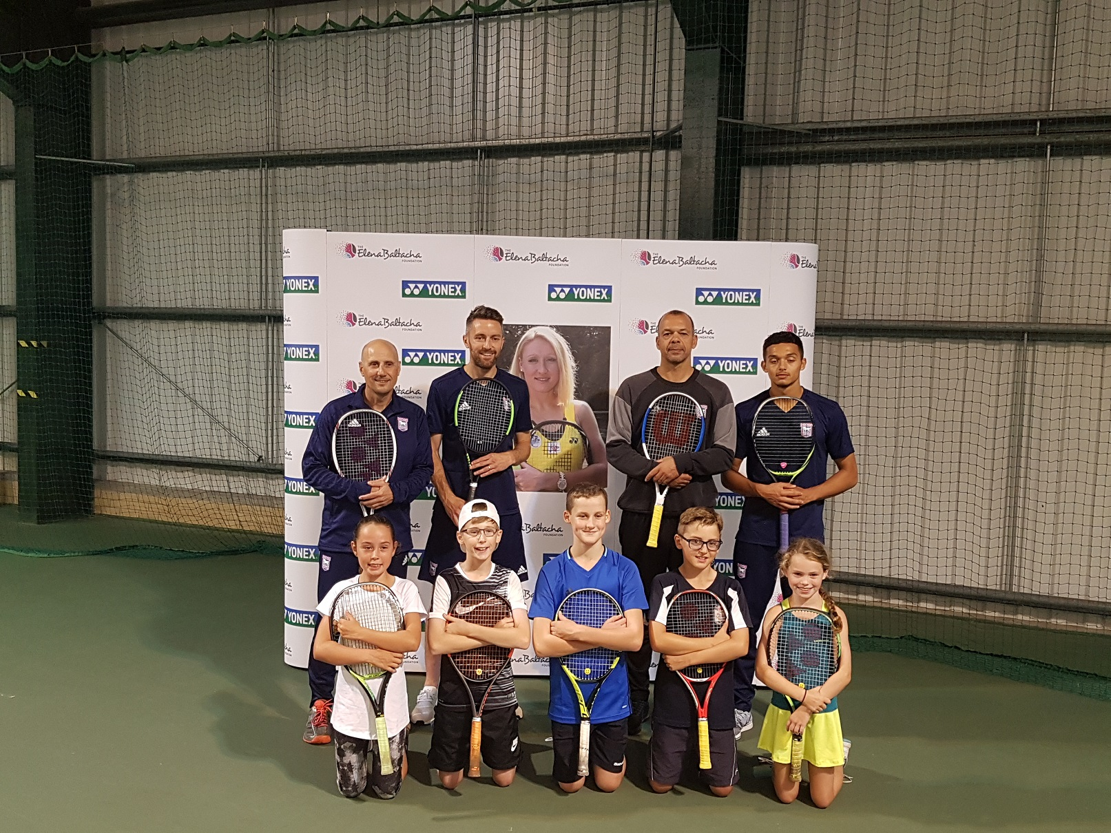 Ipswich Town FC players Cole Skuse and Andre Dozzell take part in Elena Baltacha Foundation training sessions.