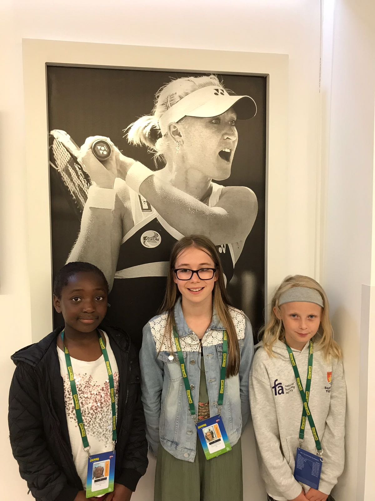 Elena Baltacha Foundation girls at the Nature Valley Classic in Birmingham.